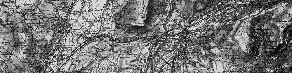 Old map of Skewen in 1898