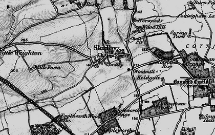 Old map of Skidby in 1895