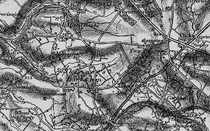 Old map of Skinner's Bottom in 1895
