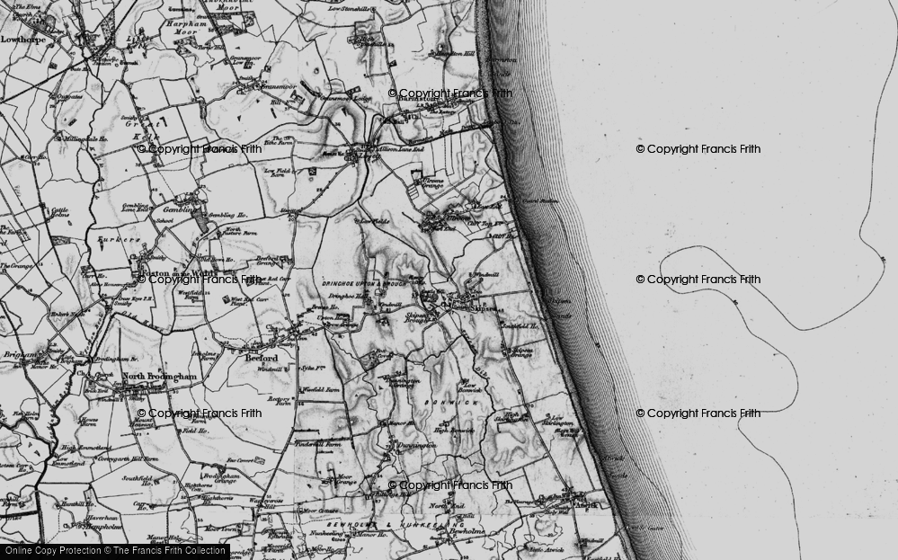 Old Map of Skipsea, 1897 in 1897