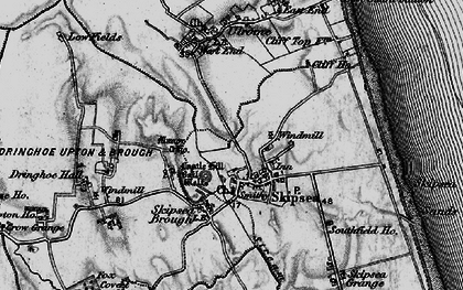 Old map of Skipsea in 1897