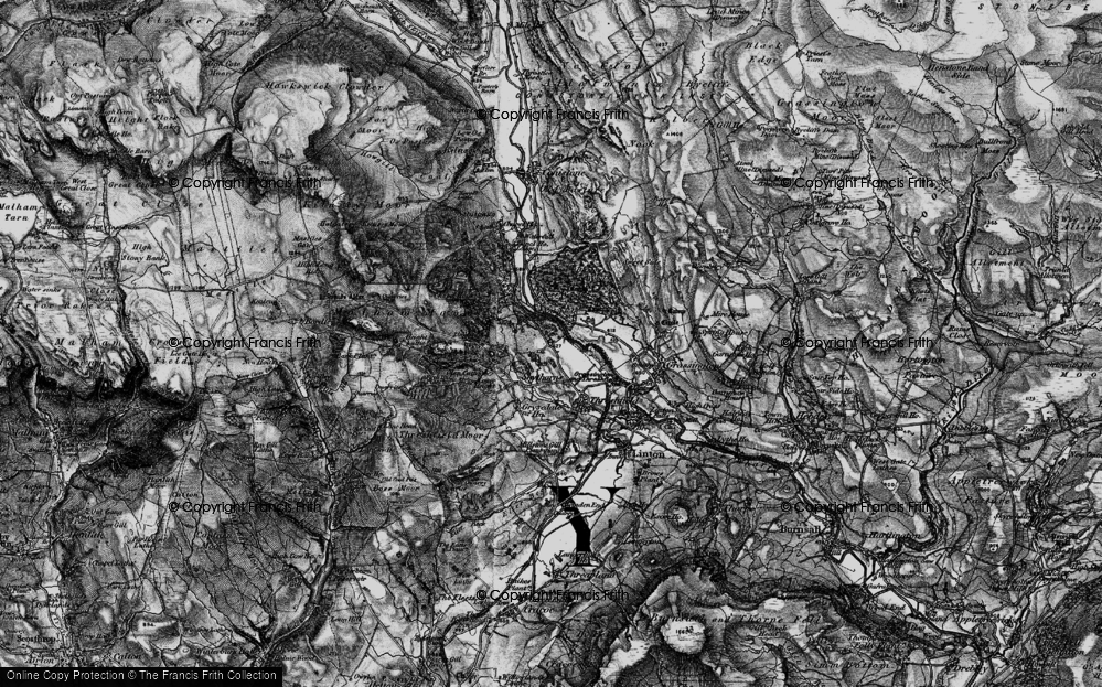 Old Map of Historic Map covering Wood Nook in 1898