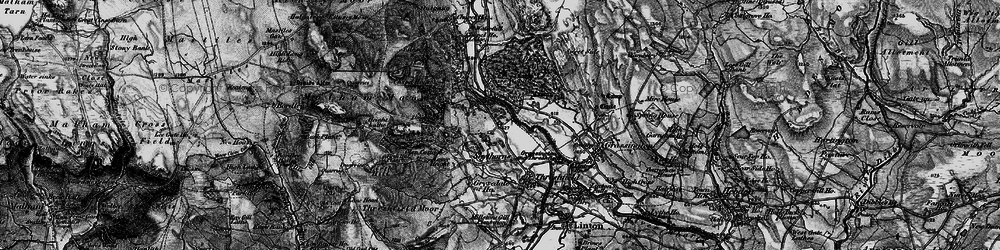 Old map of Wood Nook in 1898