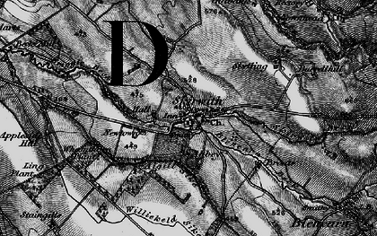 Old map of Aigill Sike in 1897