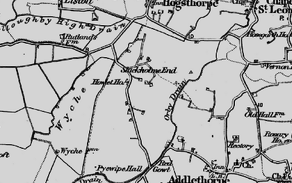 Old map of Wyche in 1898