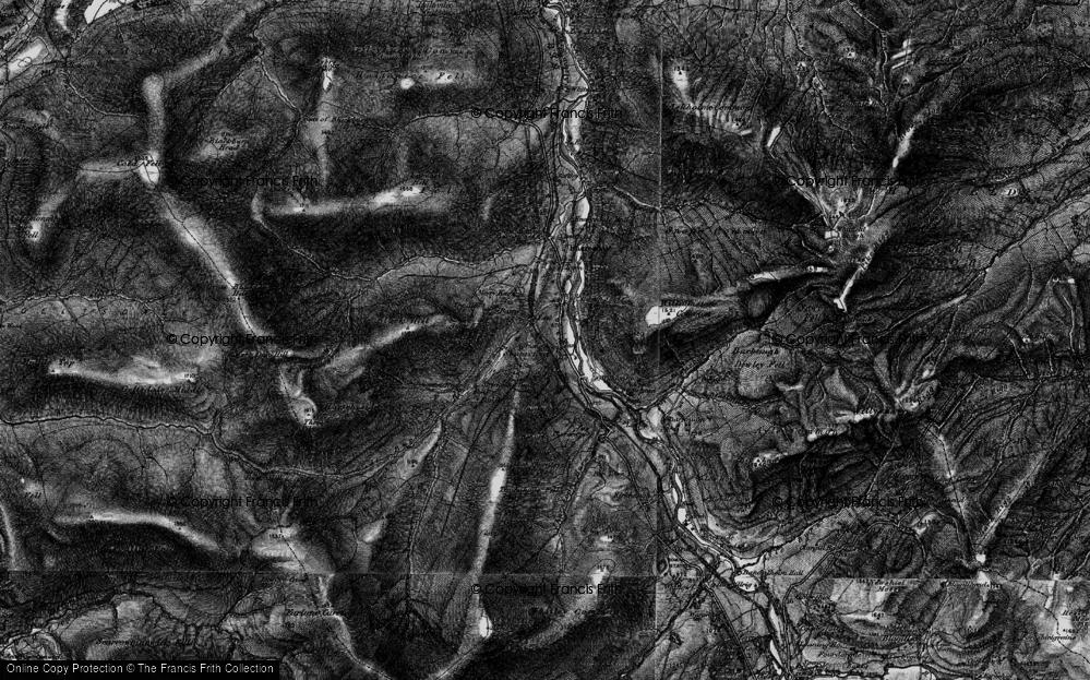 Old Map of Historic Map covering Barhaugh Burn in 1897