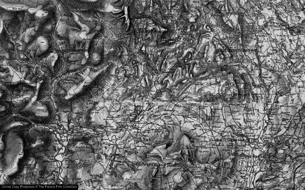 Old Map of Slaidburn, 1898 in 1898