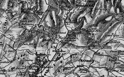Old map of Slaidburn in 1898