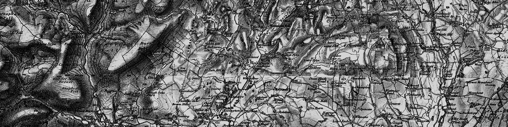 Old map of Whiteholme in 1898