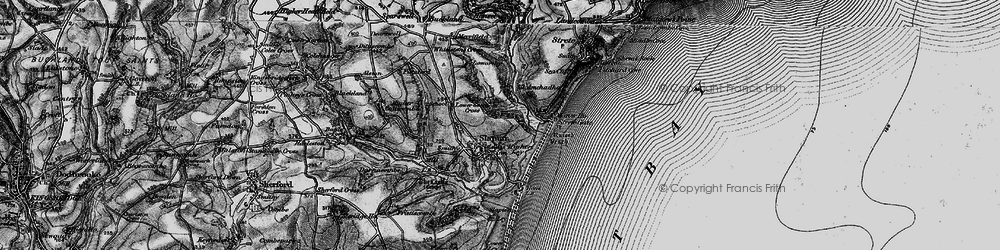 Old map of Slapton in 1897