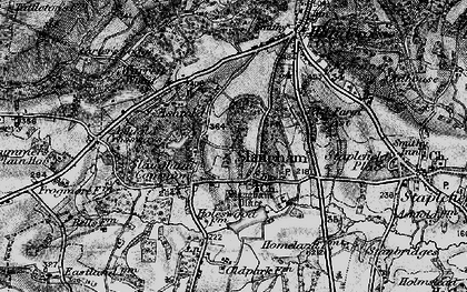 Old map of Slaugham in 1895