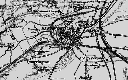 Old map of Sleaford in 1895