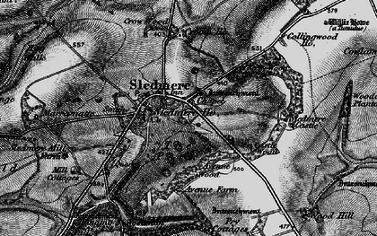Old map of Sledmere in 1898