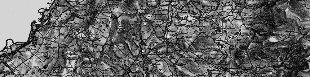 Old map of Wickerthwaite in 1897