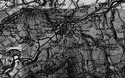 Old map of Sleights in 1898