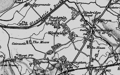 Old map of Slimbridge in 1897
