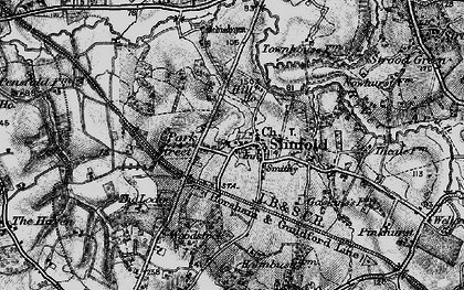 Old map of Slinfold in 1895