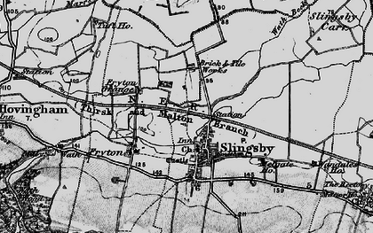 Old map of Slingsby in 1898