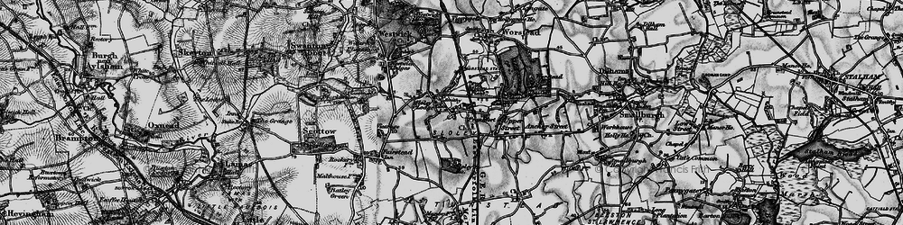 Old map of Worstead Sta in 1898