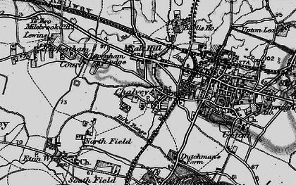 Old map of Slough in 1896