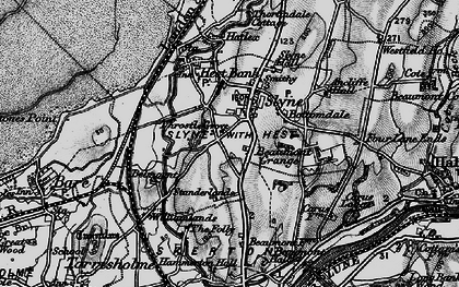 Old map of Slyne in 1898