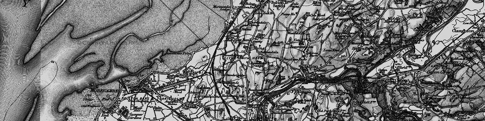 Old map of Ancliffe Hall in 1898