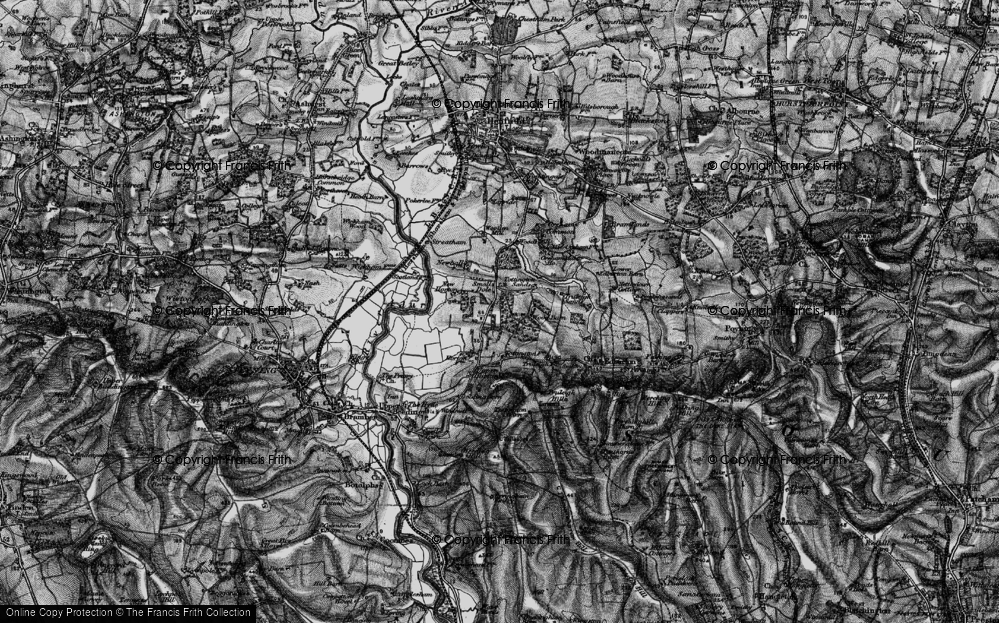 Old Map of Historic Map covering Woods Mill in 1895