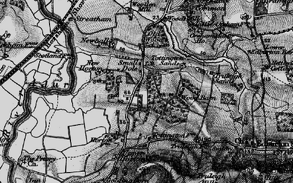 Old map of Woods Mill in 1895