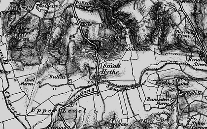 Old map of Small Hythe in 1895