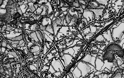 Old map of Smallbridge in 1896