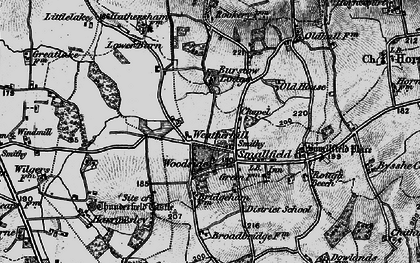 Old map of Smallfield in 1895