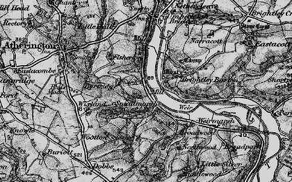 Old map of Wixland in 1898