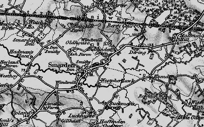 Old map of Smarden in 1895