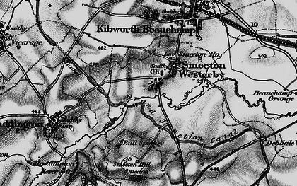 Old map of Smeeton Westerby in 1898