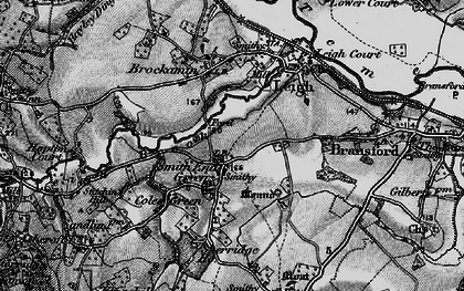 Old map of Leigh Brook in 1898