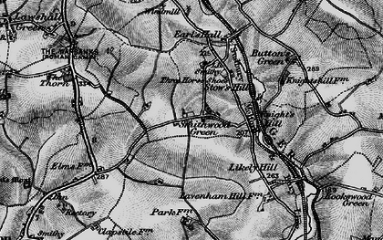 Old map of Lavenham Lodge in 1895