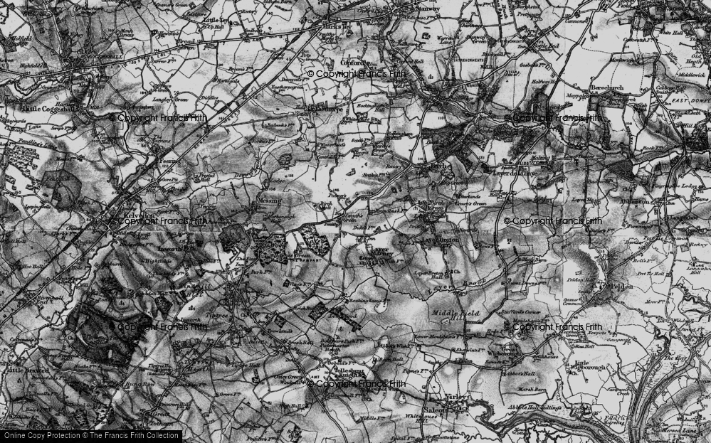 Old Map of Historic Map covering Layer Wood in 1896