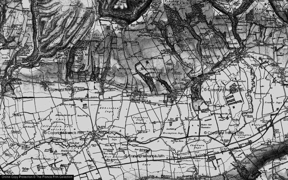 Old Map of Historic Map covering Wydale Hall in 1898