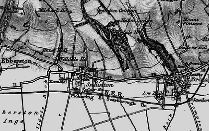 Old map of Snainton in 1898