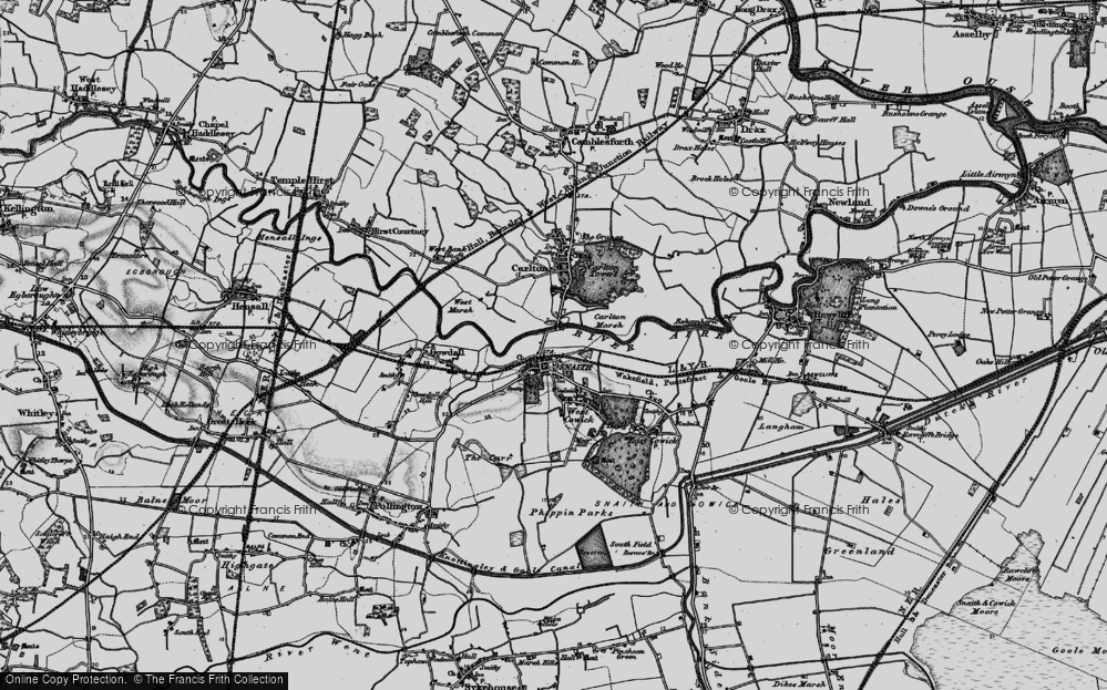 Old Map of Snaith, 1895 in 1895
