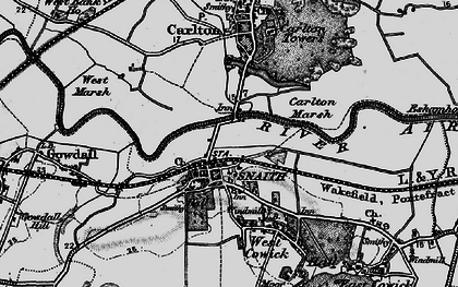 Old map of Snaith in 1895