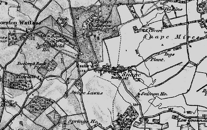 Old map of Snape in 1897