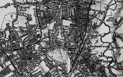 Old map of Snaresbrook in 1896