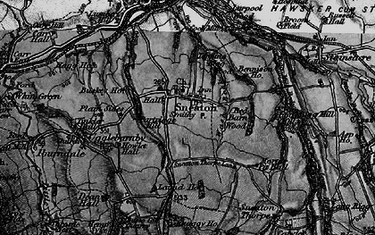 Old map of Laund Ho in 1897