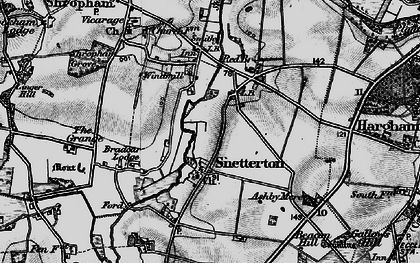 Old map of Linger Hill in 1898