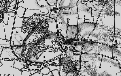 Old map of Snettisham in 1898