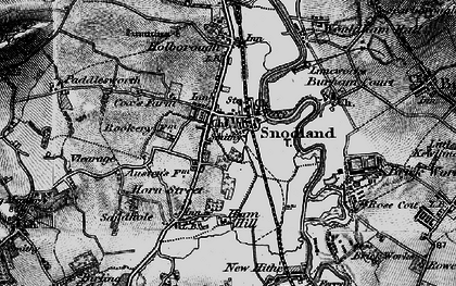 Old map of Snodland in 1895