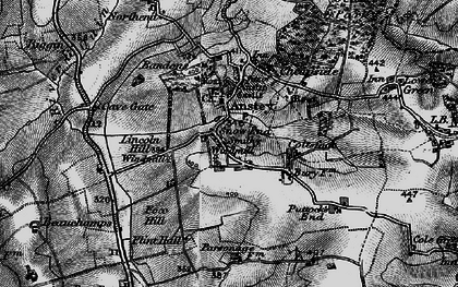 Old map of Snow End in 1896