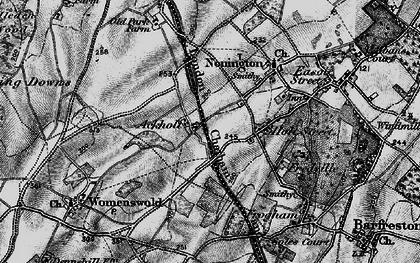 Old map of Ackholt in 1895