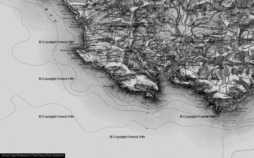 Old Map of Historic Map covering Lantern Rock in 1897
